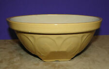 """VINTAGE T G GREEN LTD GRIPSTAND 8 1/2"""" YELLOW WARE MIXING BOWL ENGLAND STONEWARE"""