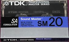 TDK SM 20 STUDIO HIGH BIAS SEALED BLANK AUDIO TYPE II COMPACT CASSETTE TAPE