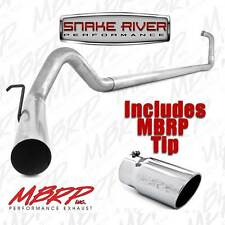"""MBRP 4"""" EXHAUST 03-07 FORD POWERSTROKE DIESEL 6.0 NO MUFFLER STRAIGHT PIPE W TIP"""