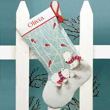 Dimensions Cross Stitch Kit - Snow Bears Stocking