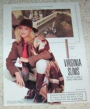 1991 print ad - Virginia Slims cigarettes sexy Girl smoking Websville NY wives