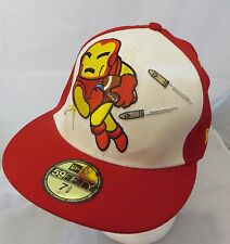 Marvel tokiidoki 59fifty cap hat flatbilled 7 3/8 Ironman for touchdown
