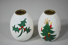 Anne Beate Designs Denmark - Christmas Mini Candle Holder Pair Wooden Egg