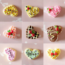 5X DIY Cabochons Crafts Strawberry Heart Love Cake Resin Flatback Scrapbooking