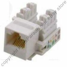 Lot500 Cat5e RJ45 Keystone Network/Ethernet 10/100/1000 Jack/Port Punch{WHITE{ER