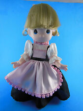 "Precious Moments 9"" Gretel Sweden #1508 Doll black and pink clothes blond"