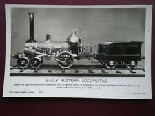 POSTCARD EARLY AUSTRAIN LOCOMOTIVE
