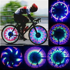 32 LED Colorful Rainbow Bicycle Bike Wheel Spoke Light Double Sided Tire Lamp UR