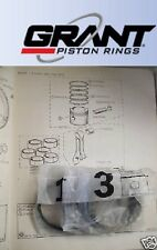 TRIUMPH TR6 TR5 TR250 2.5 2500 PISTON RINGS SET +020  (Grant USA)