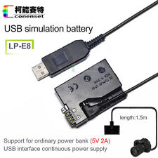 USB External Power Dummy LP-E8 Battery Pack for Canon EOS Kiss X4 Kiss X5 700D
