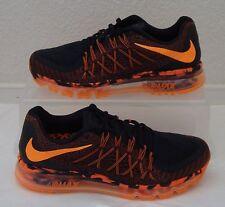 Nike Shoes Air Max 2015 Premium Black Orange Mens US Size 8 UK 7 EUR 41 CM 26