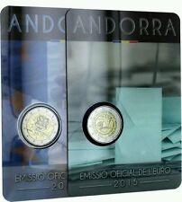 Les deux pièces commémoratives d'Andorre 2015.