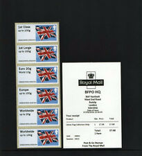 NORTHOLT BFPO HQ M001 FLAG undated COLLECTORS STRIP POST GO C3GB16 MARCH 2016