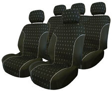 NEW 9 PIECE BLACK CHARCOAL CAR INTERIOR SEAT COVERS FOR 60/40 & 40/60 REAR SEATS