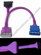 "Lot4 2ft/24""inch Dual 2 device IDE HD/CD/DVD 133 PATA Round Cable/Cord{UV PURPLE"