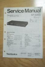 Technics Service Manual for the ST-G450 Tuner