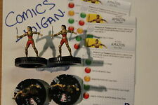 DC HeroClix Superman/Wonder Woman #005 Amazon x 4 (4 figures) army