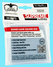50 ULTIMATE GUARD SUPREME SQUARE BOARD GAME Card SLEEVES 73mm x 73mm Clear