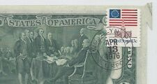 Scarce Error 1976 Stamped $2 11525002 Printed Foldover Butterfly AU-Uncirculated