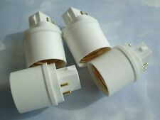 FOUR PACK Adapters to Use E27/E26 Light Bulbs in a GX24- 4 PIN fixture base