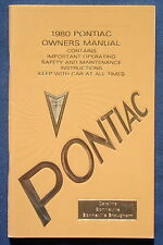Owner's Manual * Betriebsanleitung  1980 Pontiac Catalina  Bonneville  (USA)