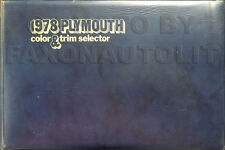 1978 Plymouth Color Upholstery Dealer Album Volare Fury Trailduster Voyager Horz