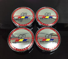 Mugen Power Wheel Center Caps 60mm Badge Set 4pcs Civic Type-R