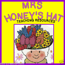 MRS HONEY'S HAT Teacher teaching resources Story sack ks1 eyfs childminder cd