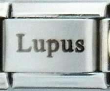 Lupus Medical Laser Alert for Italian Charm Bracelets Free Medical ID Card