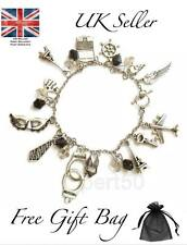 *SALE* High Quality Fifty Charm Bracelet Freedom Shades of Grey 50 Sexy Gift UK