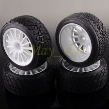 "SET 2.2"" White WHEEL Rim & Tires Tyre HPI HSP WR8 Rally Tarmac Off-Road 94177"