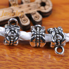 50pcs 12mm Charms Connectors Linkers Pendant DIY Jewelry Hook TIbet Silver 7292