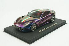 1/18 BBR FERRARI F12 BERLINETTA CHAMELEON BLACK DELUXE LEATHER BASE LE 10 PC MR