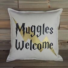 Harry Potter Inspired 16x16 Pillow Cover, Harry Potter Home Decor, Muggles