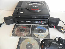 Complete SEGA CD SYSTEM Model 1 Front Loader Console Genesis With Games TESTED