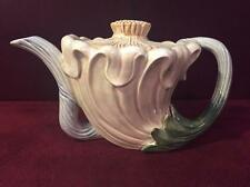 """Rare Vintage Fitz And Floyd """"Art Nouveau"""" Pattern Sculpted Flower Teapot"""