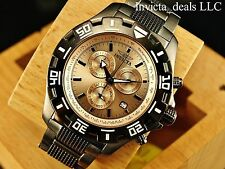 Invicta Men Python ISA Chronograph Knurled Links Rose Gold Dial Gunmetal IP Watc