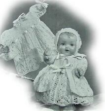 "Vintage BABY DOLL (6 piece) 10"" knitting pattern"