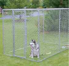 LARGE CHAIN LINK DOG KENNEL 6'x10'x6 'PET PEN FENCE RUN OUTDOOR HOUSE ENCLOSURE