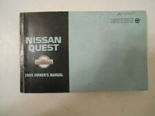 1995 NISSAN QUEST FACTORY COMPLETE OWNERS MANUAL INSTRUCTION HANDBOOK