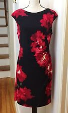 Lauren Ralph Lauren Floral Faux Wrap Surplice Dress Size 14
