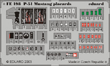 Eduard Zoom FE198 1/48 P-51 Mustang Placards