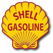 "SHELL GASOLINE 12"" DIE CUT VINYL GAS & OIL PUMP DECAL"