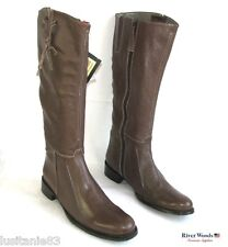 RIVER WOODS - BOTTES CAVALIERES TOUT CUIR MARRON 39 --  40 - NEUF
