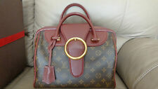LOUIS VUITTON GOLD ARROW SPEEDY BURGUNDY BAG - GOOD CONDITION - AUTHENTIC