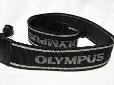 "Genuine Olympus camera neck strap 1 1/2"" Wide. Black / Grey #00974"