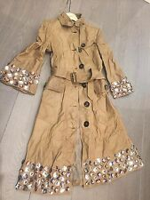 Runway Burberry Leather Trench Crystal Embellished Tan RRP £7,200 Unique