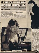 Coupure de presse Clipping 1958 Marina Vlady & Robert Hossein  (3 pages)