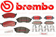Front and Rear Disc Brake Pads Brembo for Infiniti