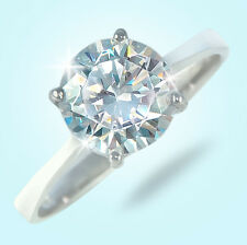 3 ct Round Ring Vintage Brilliant Top Russian CZ  Moissanite Simulant Size 6